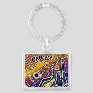 Happiness is My Ukulele Landscape Keychain