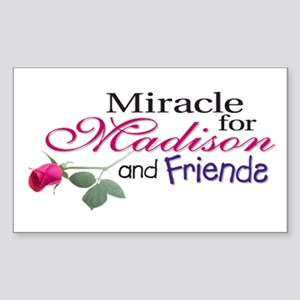 Miracle for Madison and Frien Sticker (Rectangular
