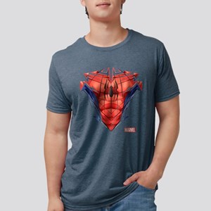 Spider-Man Chest Mens Tri-blend T-Shirt