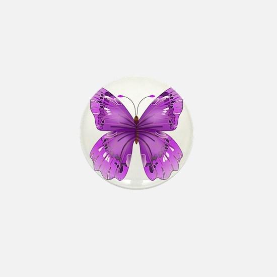 Awareness Butterfly Mini Button