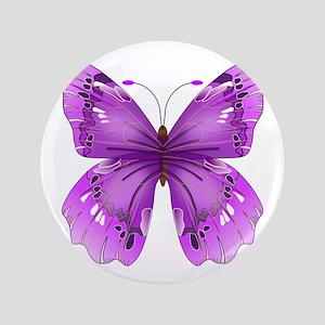 """Awareness Butterfly 3.5"""" Button"""