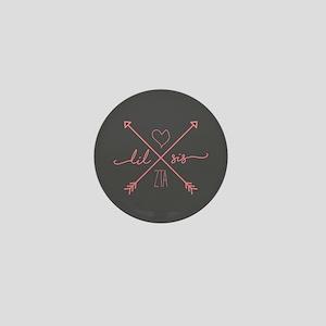 Zeta Tau Alpha Lil Sis Arrows Mini Button