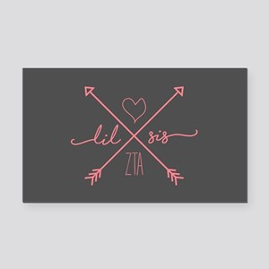 Zeta Tau Alpha Lil Sis Arrows Rectangle Car Magnet