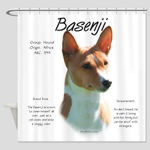 Basenji (chestnut) Shower Curtain