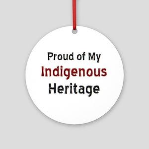 indigenous heritage Round Ornament