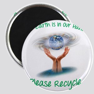 The earth is in our hands Magnet