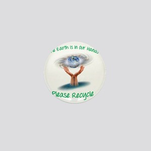 The earth is in our hands Mini Button