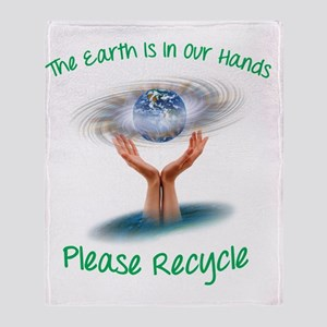 The earth is in our hands Throw Blanket