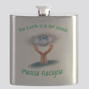 The earth is in our hands Flask