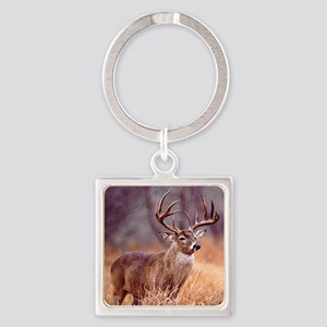 Wildlife Deer Buck Square Keychain