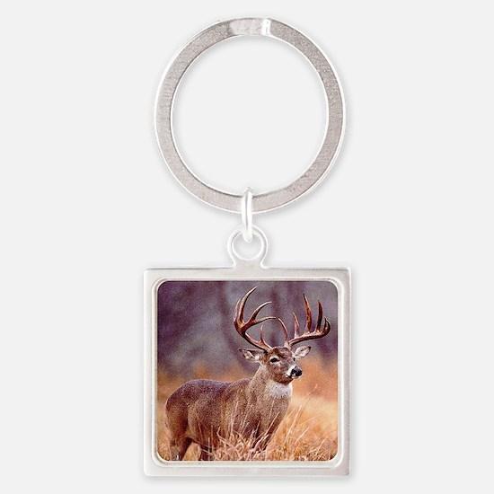 Wildlife Deer Buck Square Keychain