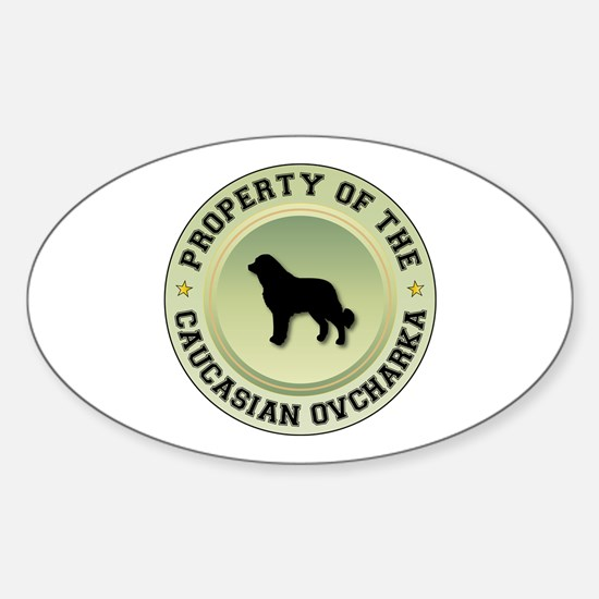 Caucasian Property Oval Decal