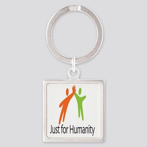 JustForHumanityLogo Square Keychain