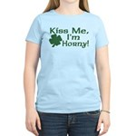 Kiss Me I'm Horny Women's Light T-Shirt
