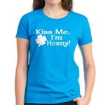 Kiss Me I'm Horny Women's Dark T-Shirt