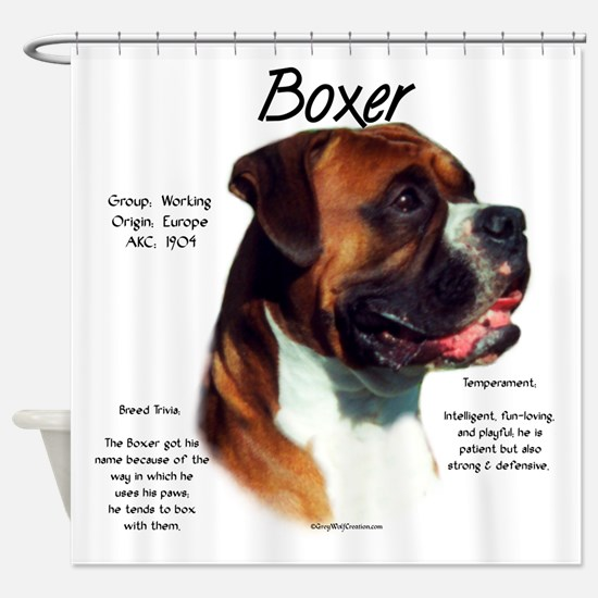 Boxer (natural) Shower Curtain