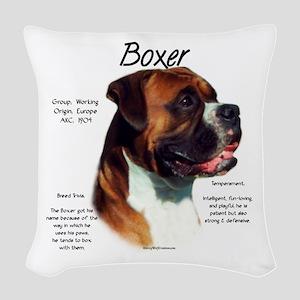 Boxer (natural) Woven Throw Pillow