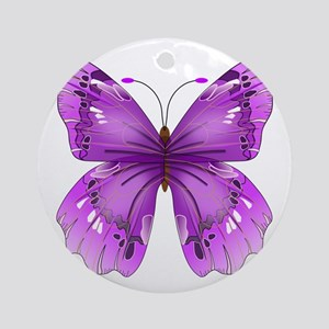 Awareness Butterfly Ornament (Round)