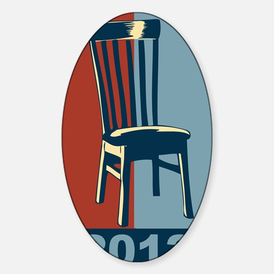 Eastwood And The Chair 2012 Electio Sticker (Oval)