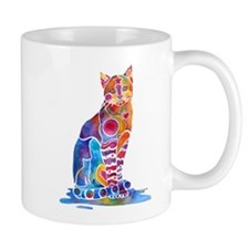 Whimsical Elegant Cat Mug
