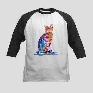 Whimsical Elegant Cat Kids Baseball Jersey