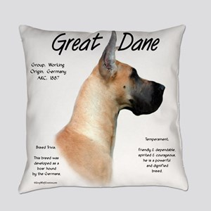 Great Dane (fawn) Everyday Pillow