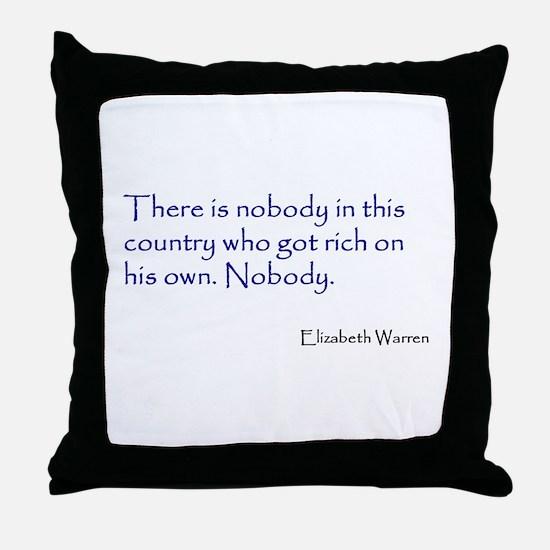 Warren Quote Throw Pillow