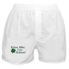 Kiss Me I'm Sober Boxer Shorts
