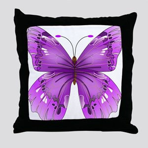 Awareness Butterfly Throw Pillow