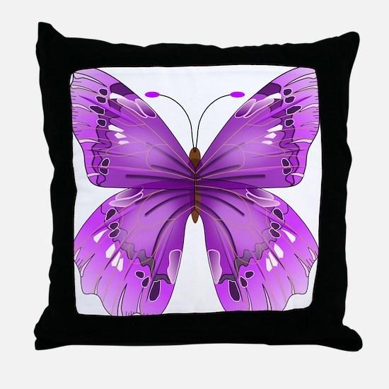 Awareness Butterfly Throw Pillow