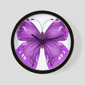 Awareness Butterfly Wall Clock