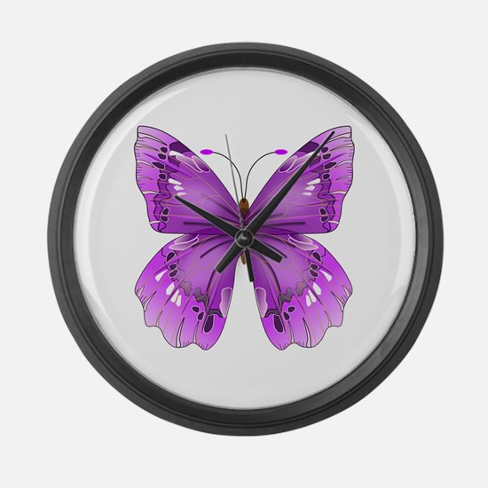 Awareness Butterfly Large Wall Clock