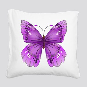 Awareness Butterfly Square Canvas Pillow