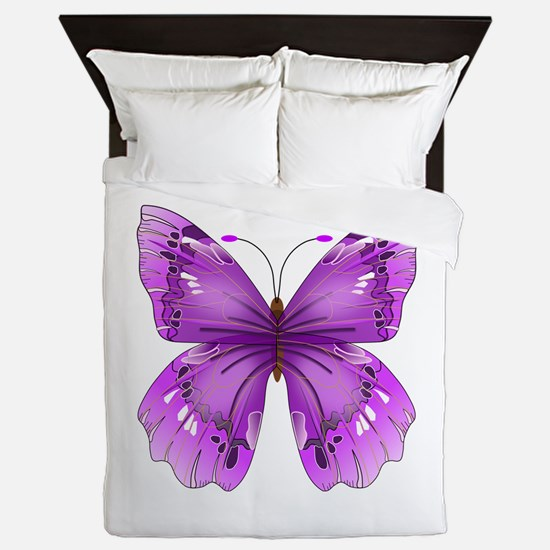 Awareness Butterfly Queen Duvet