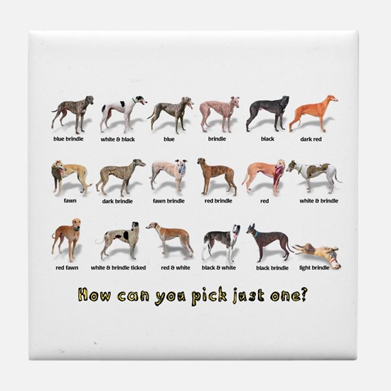 Greyhound Colors Tile Coaster