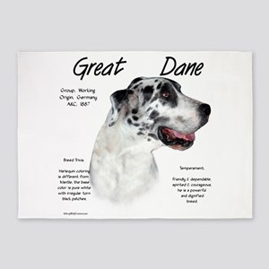 Great Dane (harlequin) 5'x7'Area Rug