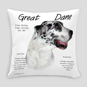 Great Dane (harlequin) Everyday Pillow