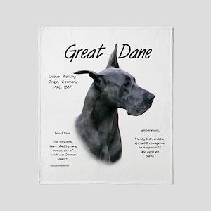 Great Dane (blue) Throw Blanket