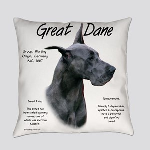 Great Dane (blue) Everyday Pillow