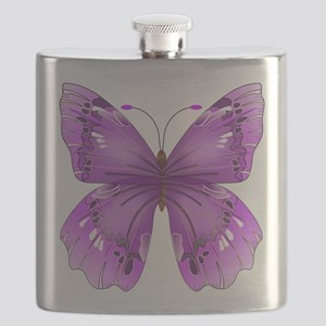 Awareness Butterfly Flask