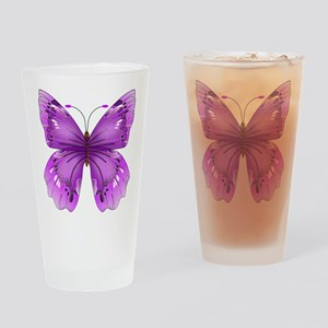 Awareness Butterfly Drinking Glass