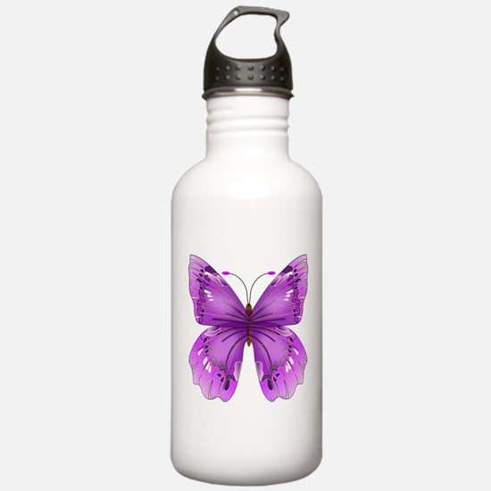 Awareness Butterfly Water Bottle