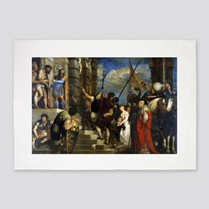 Ecce Homo - Titian - 1543 5'x7'Area Rug