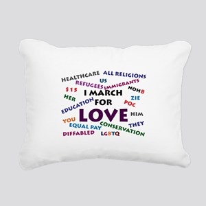 I March for Love Rectangular Canvas Pillow