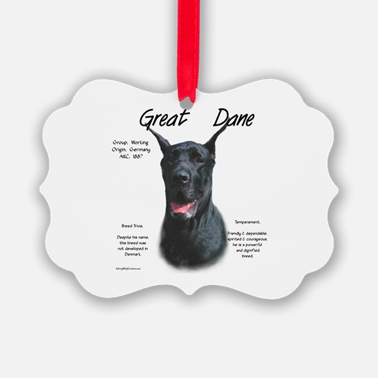 Great Dane (black) Ornament