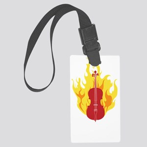 Awesome-at-Double-Bass-01-b Large Luggage Tag