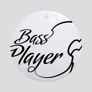 Bass-Player-01-a Round Ornament