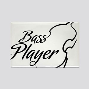 Bass-Player-01-a Rectangle Magnet