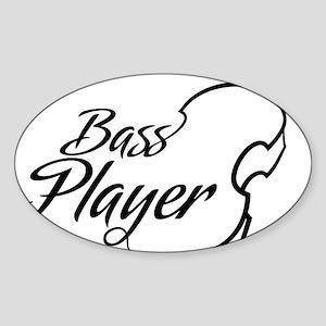 Bass-Player-01-a Sticker (Oval)