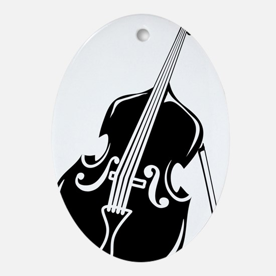 Double-Bass-003-a Oval Ornament